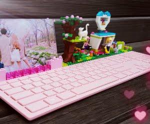 粉紅樂高鍵盤搶先看