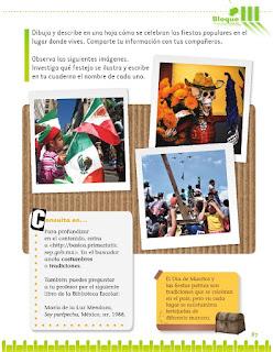 Exploración de la Naturaleza y la Sociedad 1er grado Bloque 3 Lección 5 Nuestras costumbres y tradiciones