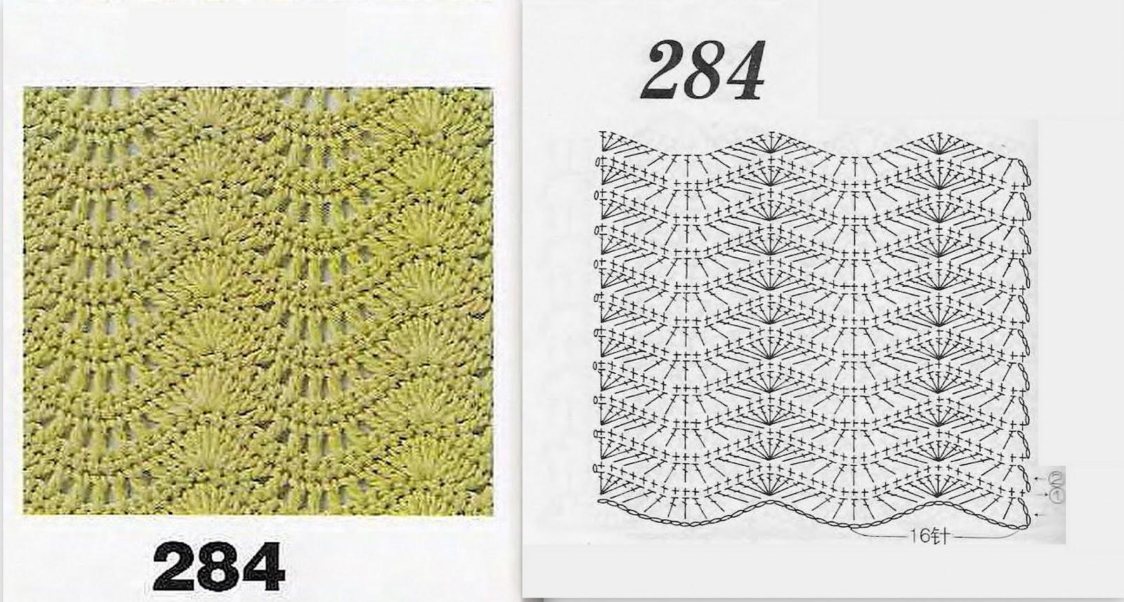 Вязание крючком рисунок вертикальная волна