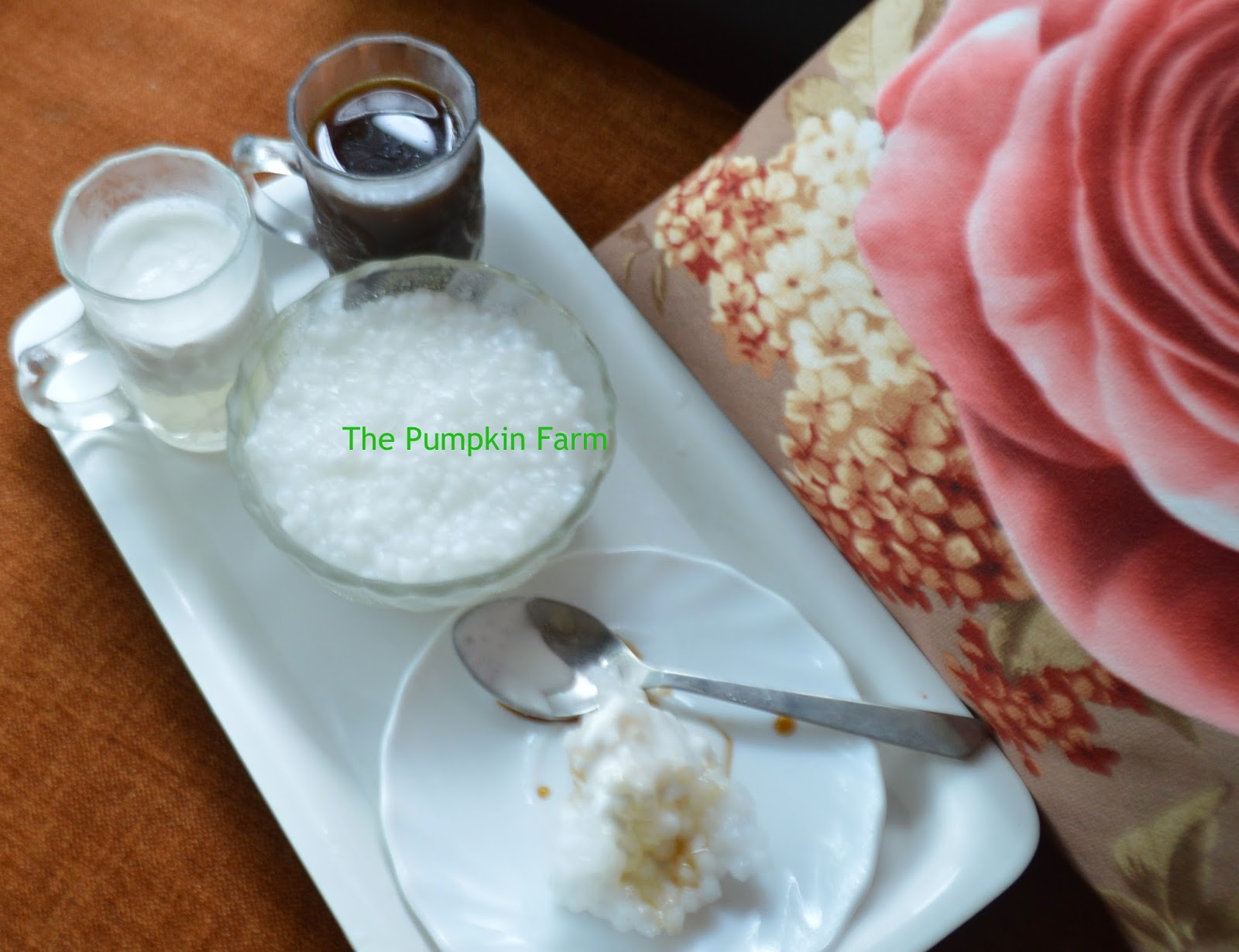 sago pudding /malaysian sago pudding