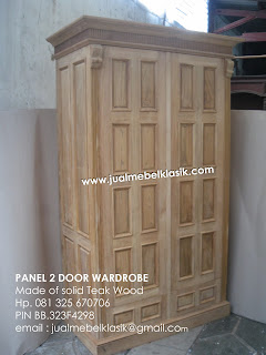 Supplier Solid teak furniture unfinished teak wardrobe 2 door