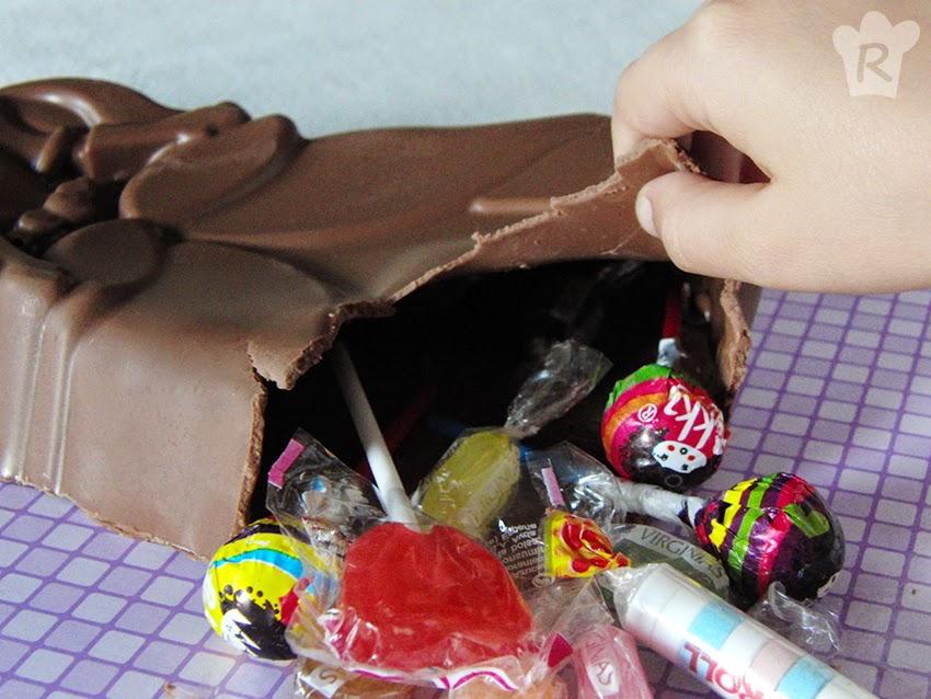 Tarta piñata de chocolate