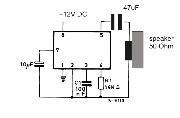 two tone ringtone generator circuit