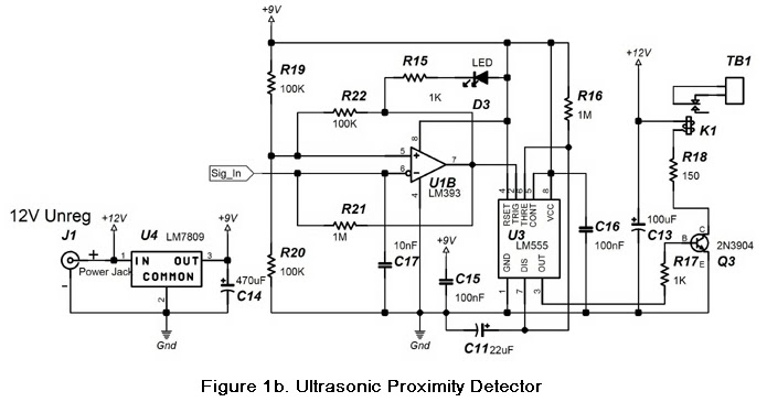 diagram circuit source  simple proximity detector alarm
