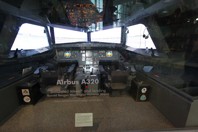 Airbus A320 Stimulator at Space and Air Museum in Washington DC, USA