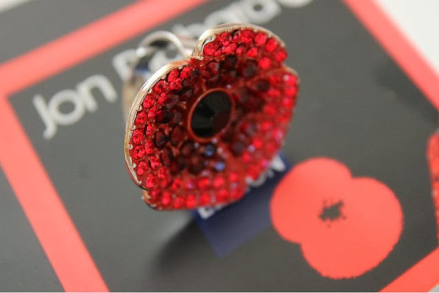 Jon Richard British Legion Poppy Ring