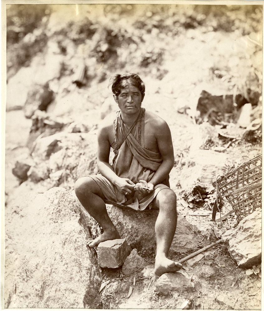 Portrait of a Lepcha Man - Darjeeling, India, 1869