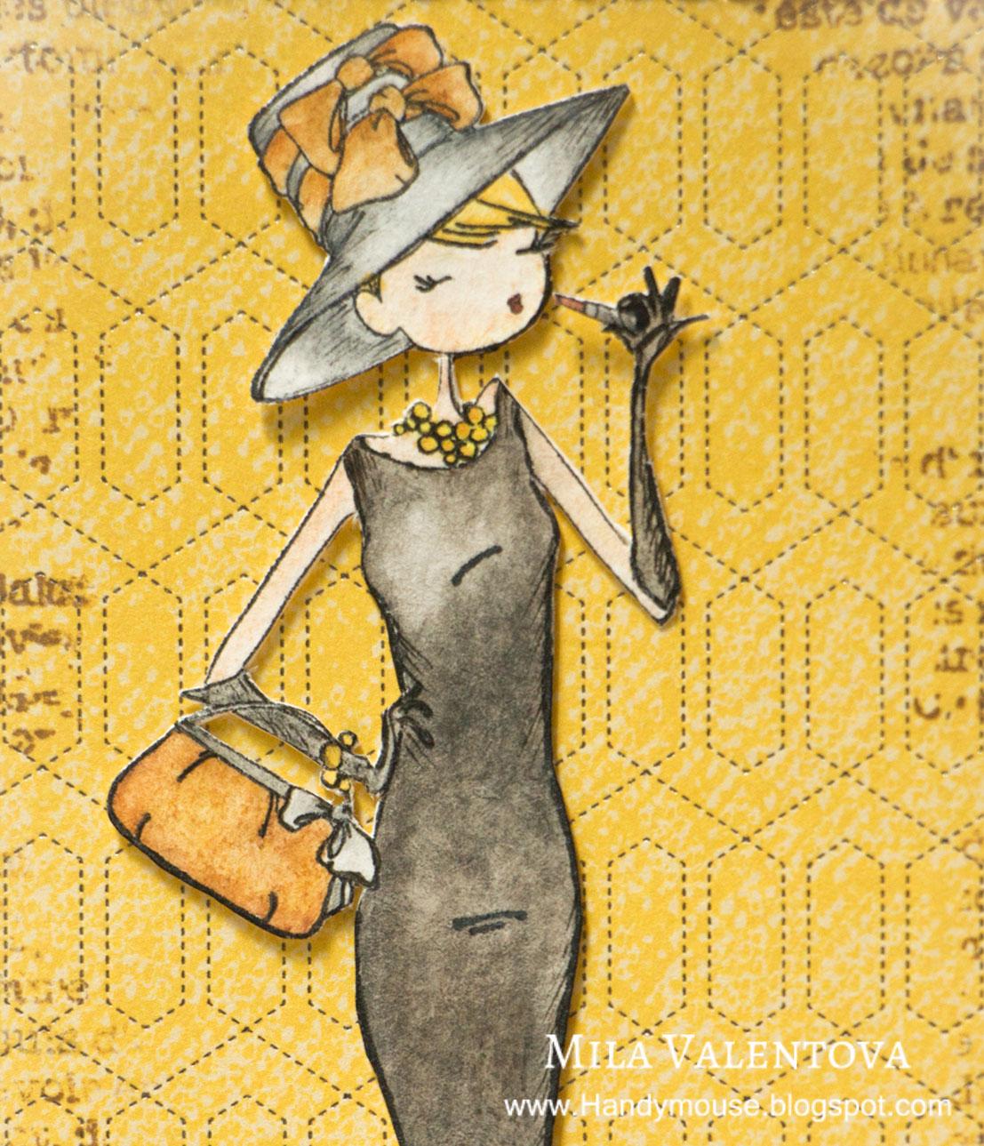 """Скрапбукинг. Обложка для паспорта """"Печенье для Одри Хэпберн"""" Мила Валентова"""