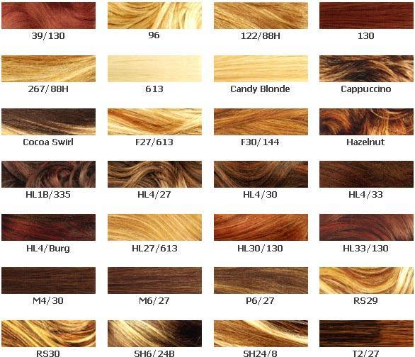 loreal hair colour chart 2012
