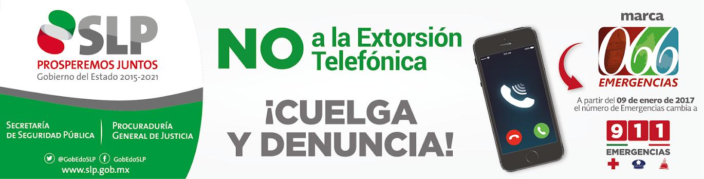 DI NO A LA EXTORSIÓN TELEFÓNICA