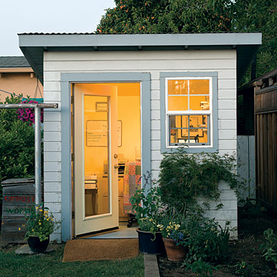 converting a garden shed to an office