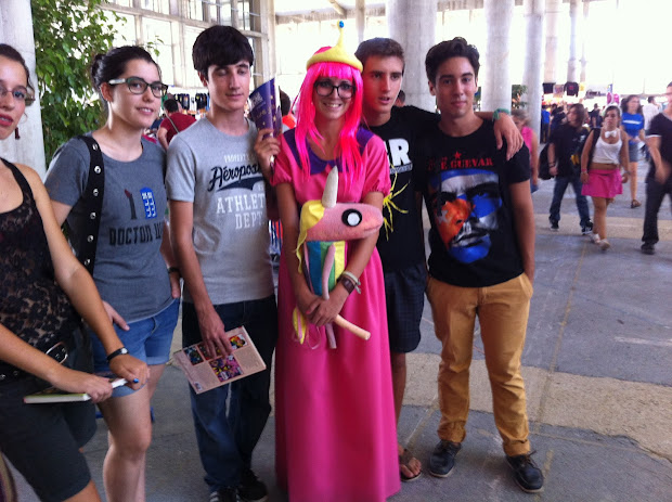 La princesa Chicle y amigos en la Comic Con Spain 2012