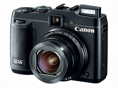 The New Canon G16, new Canon digital camera, premium compact size camera
