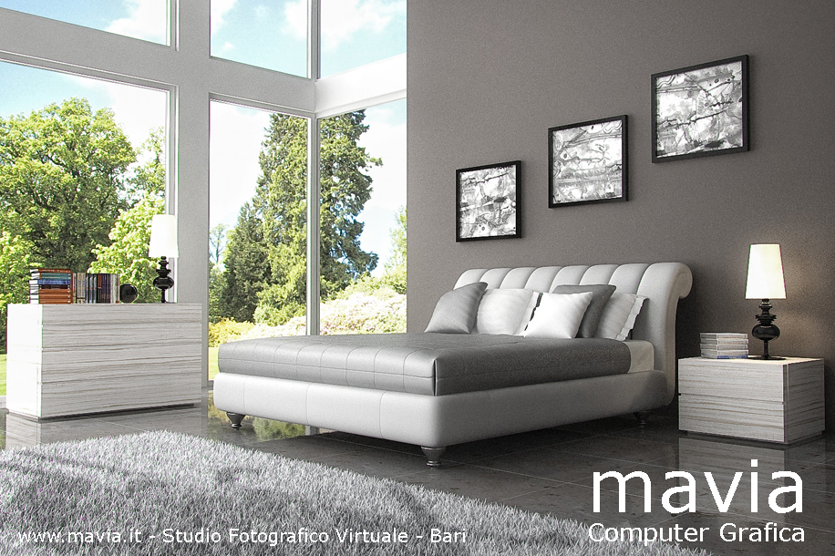 Arredamento di interni letti 3d modelli 3d di letti for Letti singoli moderni