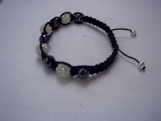 Macrame hematite bracelets