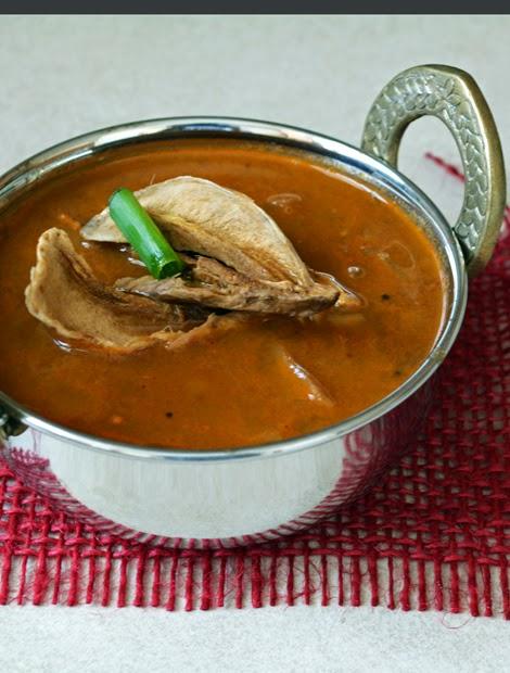 Maavathal Kuzhambu- Sun dried mango Curry