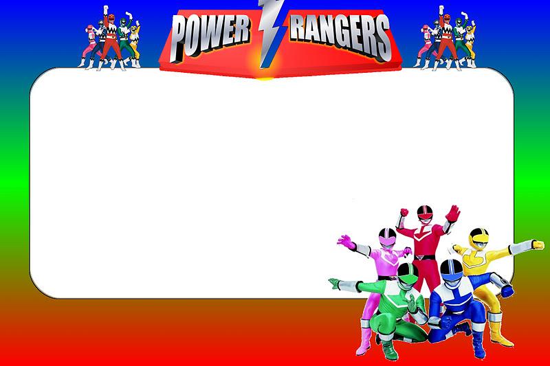 Power Rangers Invitation Template Free - Premium Invitation Template Design | Bliss Escape