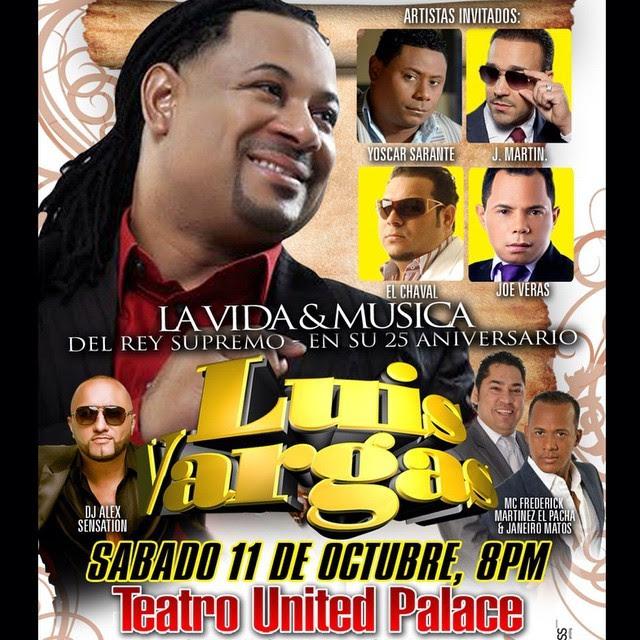 25 Aniversario Luis Vargas en United Palace