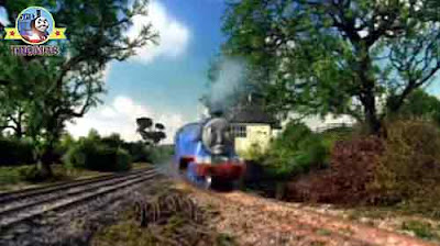 The Island of Sodor railway signalman steam locomotive express train big blue Gordon the tank engine
