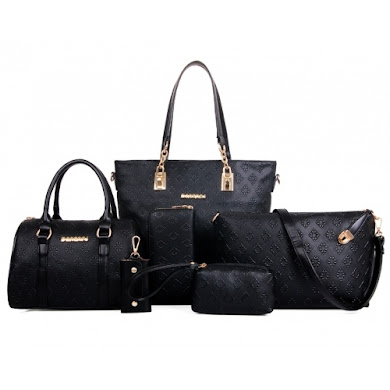 AA FASHION BAG (6 IN 1 SET) - BLACK