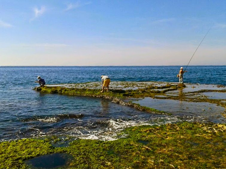 Picture of fishermen in Byblos, Lebanon.