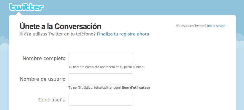 Twitter entrar