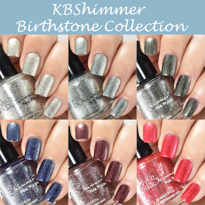 KBShimmer Birthstone Collection Select Swatches and Review