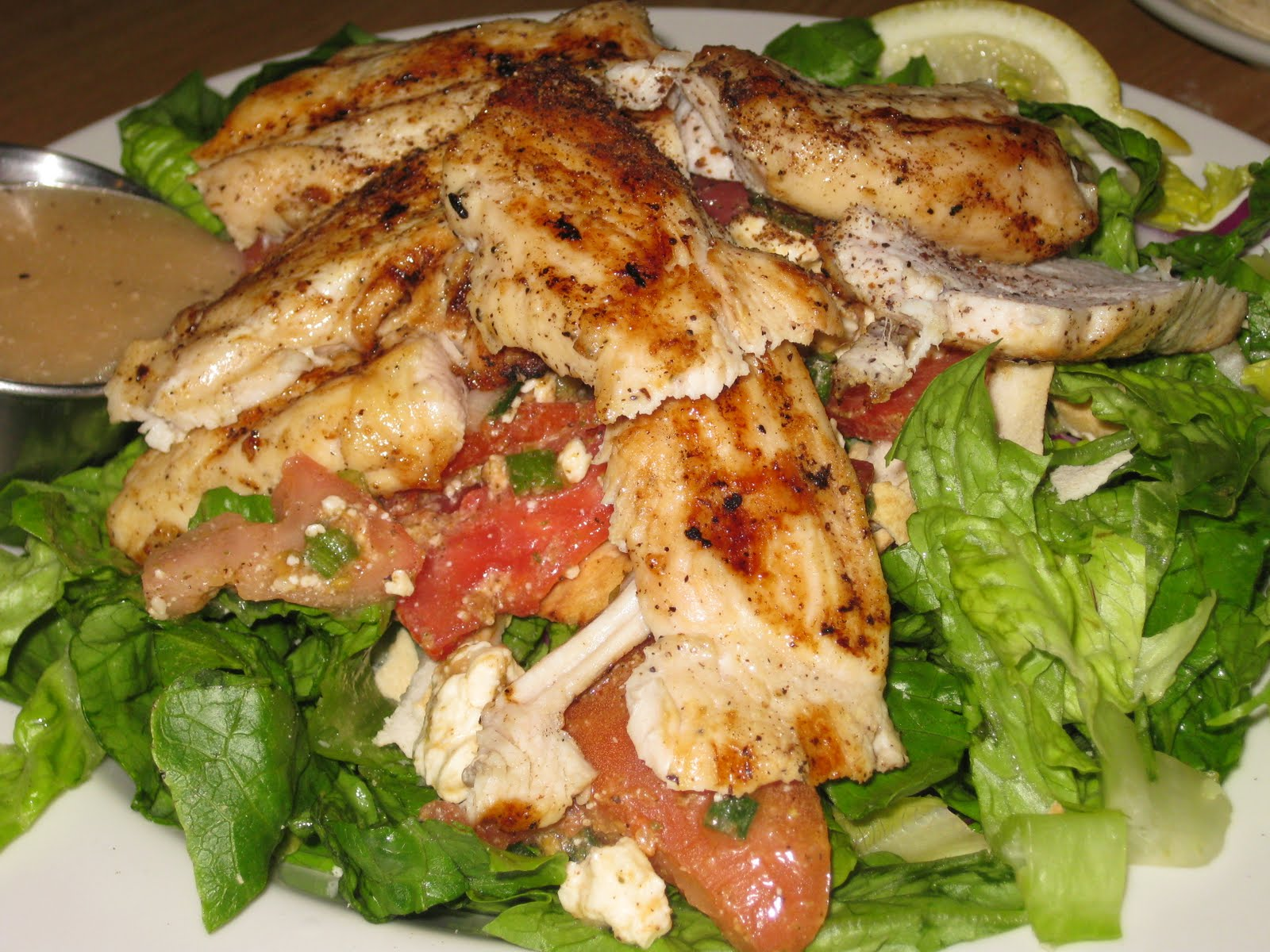 ... chicken salad and i have had many a grilled chicken salads in my time