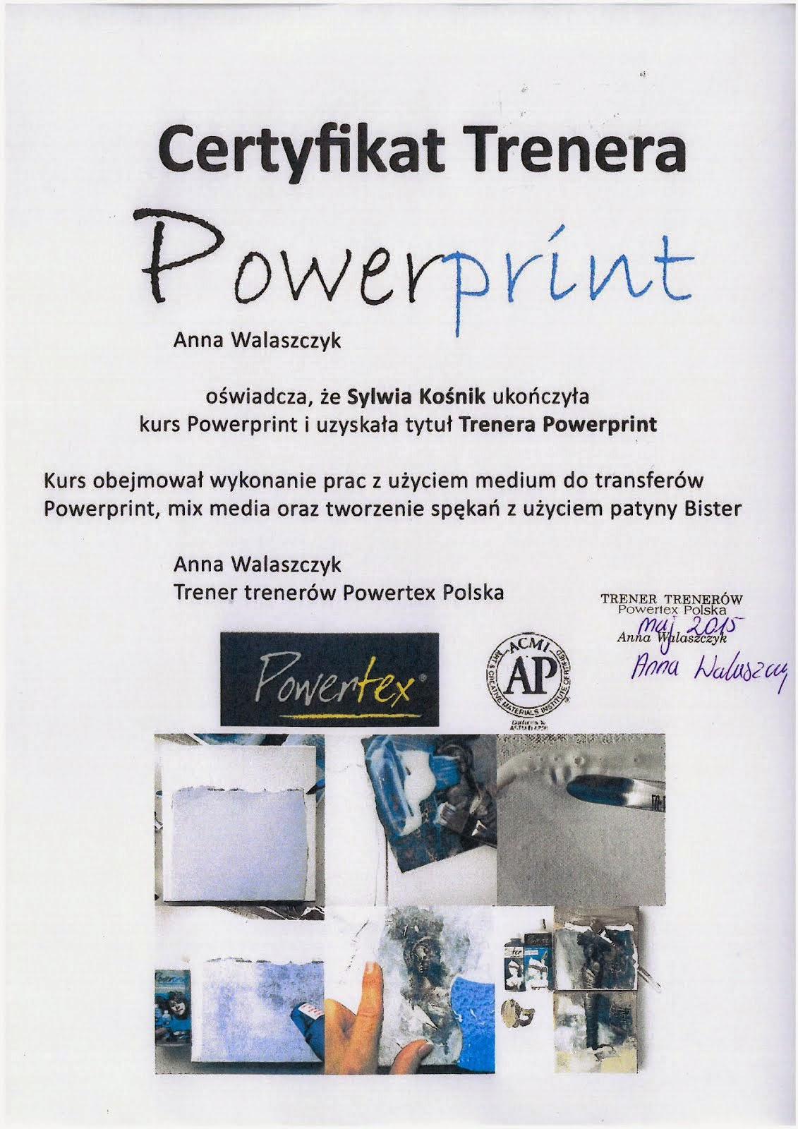Certyfikat Powertex III