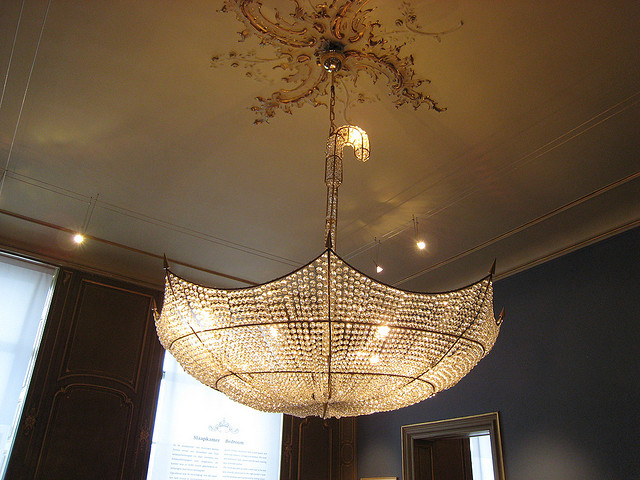 Vintage Escher Museum Umbrella Chandelier