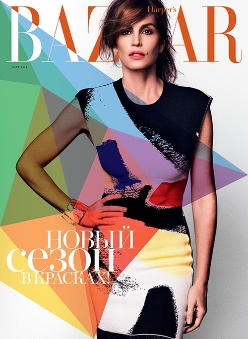 Cindy Crawford HQ Pictures Harper's Bazaar Russia Magazine Photoshoot March 2014