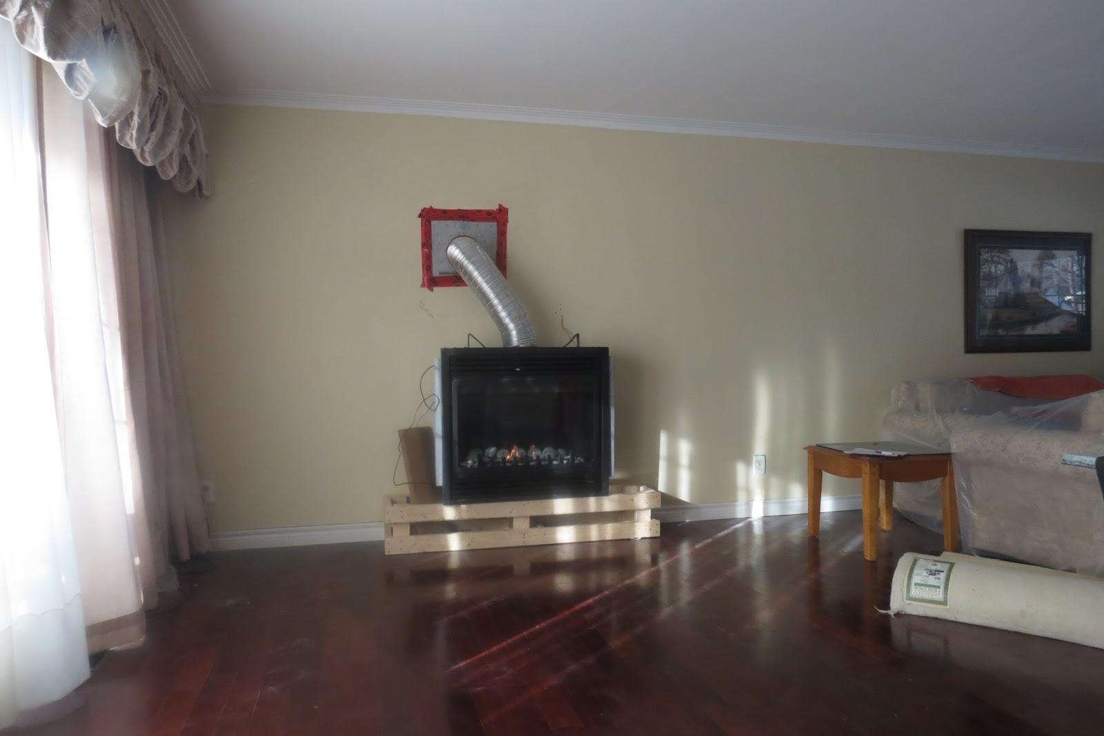 We Did Not Want The Fireplace Sitting On The Floor, So A Platform Was Built