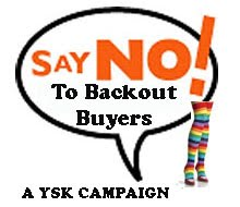NO BACKOUT BUYERS!