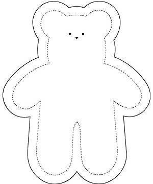 Inventive image within printable teddy bear pattern