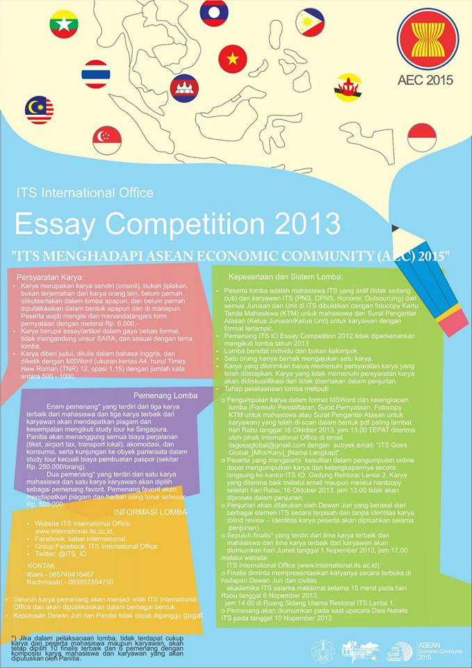 international essay competition 2013 Oakseed ministries international is proud to announce our 8th annual international essay contest for youth on the topic: compassion and breaking the cycle of poverty.