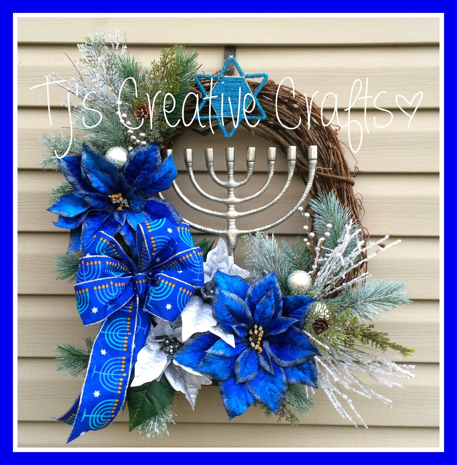 A day in the life with tj hanukkah wreaths for Decoration hanouka