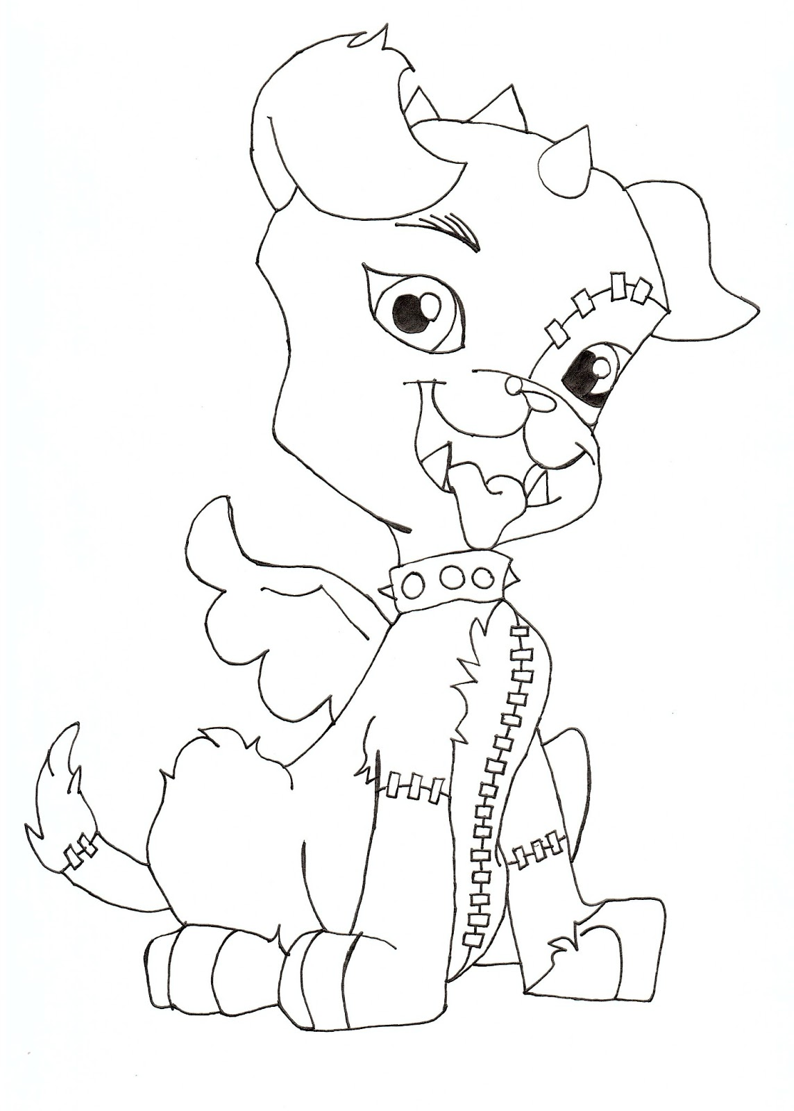 Fan image intended for monster high coloring pages printable