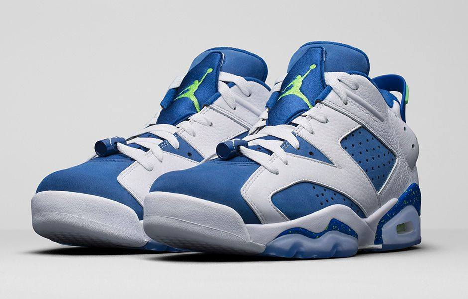 premium selection b3504 8e013 ... canada the air jordan retro vi low insignia blue drops today. white  tumbled leather was