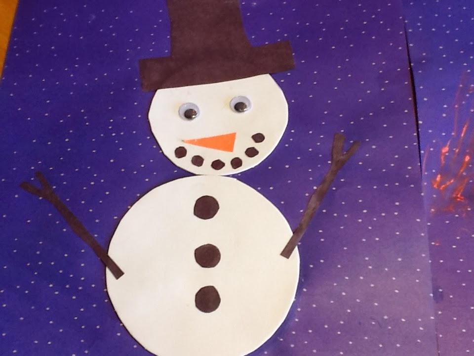 Profession m re au foyer bricolage bonhomme de neige - Bonhomme de neige bricolage ...