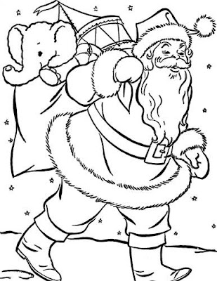 Christmas Coloring Pages Picture for Kids