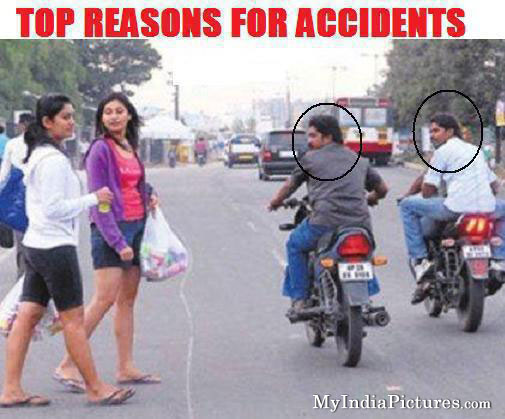 Top Reasons And Causes For Accidents Funny India Girls Boys