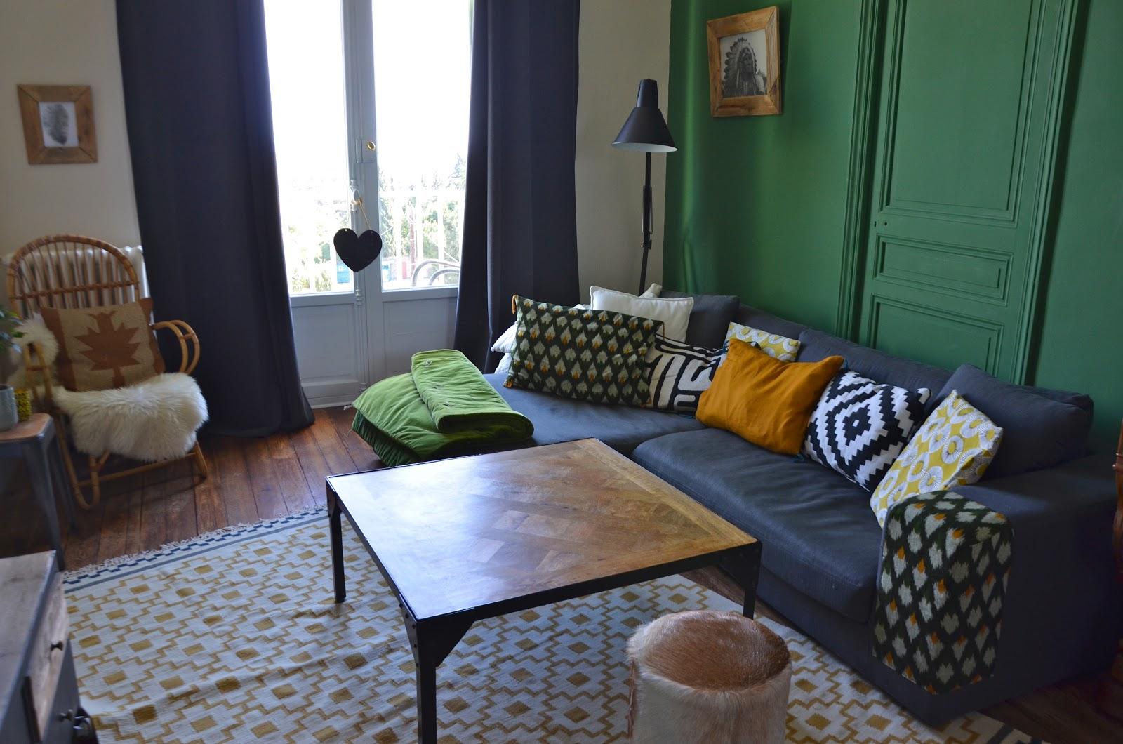 Ephemere my home une nouvelle touche mon salon avec mon achat du w - Tapis de salon chez ikea ...
