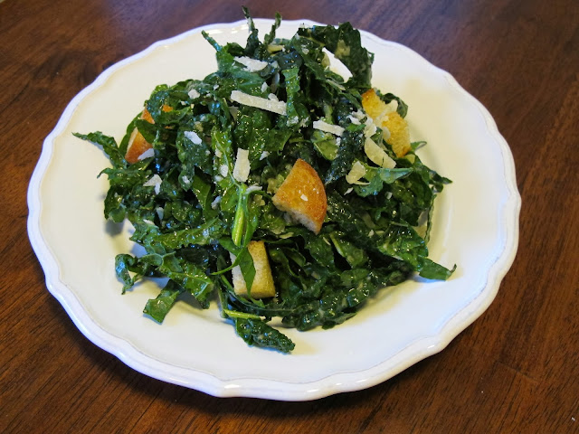 Kale Salad with Parmesan and Garlic Vinaigrette