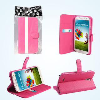 hot pink bear motion premium folio case for samsung galaxy s4