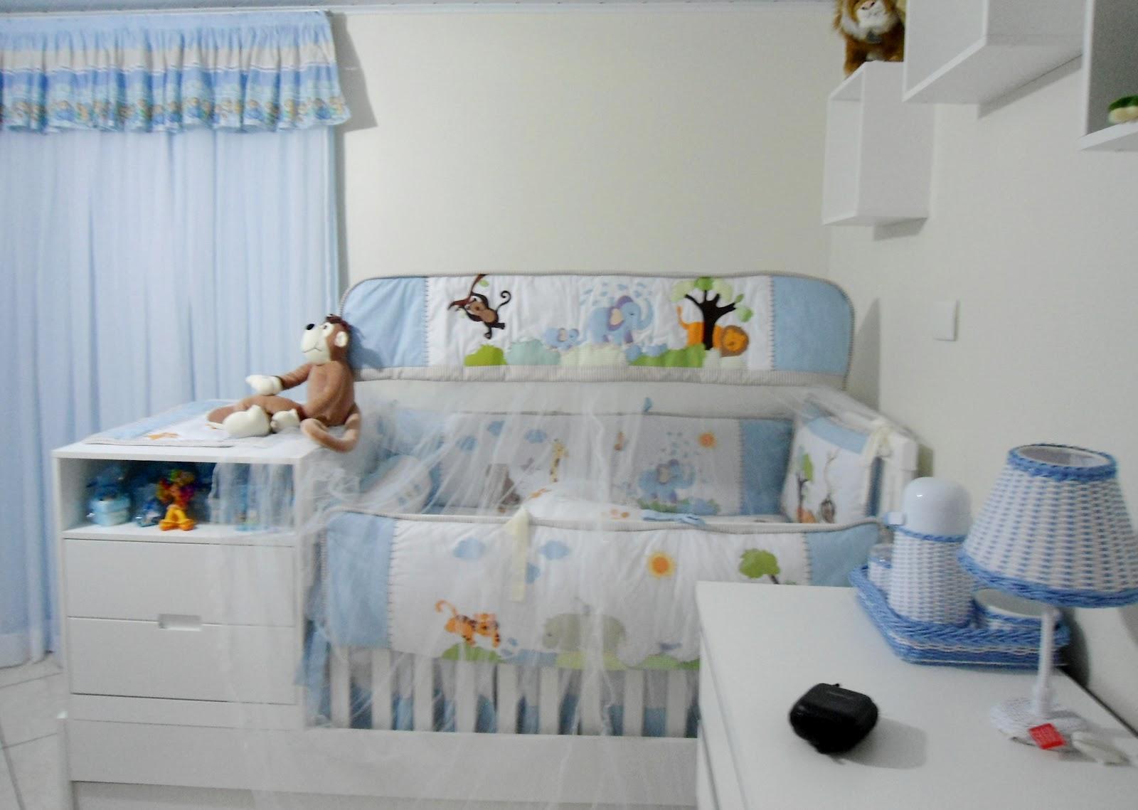 20170113184552_decoracao Quarto De Bebe Safari Azul Beigit Com ~ Decoração De Quarto De Bebe Bichinhos Da Floresta