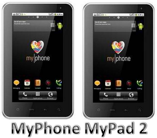 MyPhone MyPad 2 runs on 1.2 GHz processor and Android Ice Cream