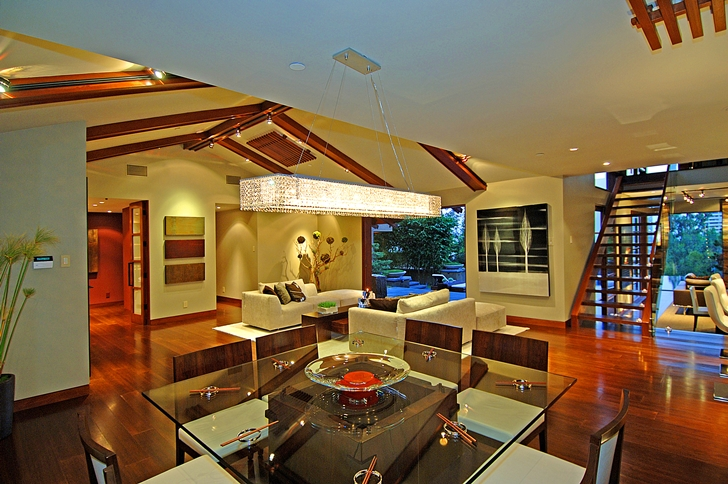 Dining room in Calvin Harris's new celebrity house