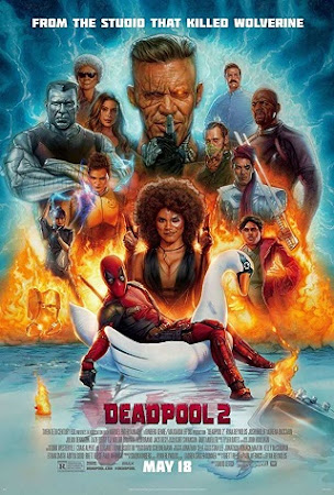 Poster Of Deadpool 2 2018 Full Movie In Hindi Dubbed Download HD 100MB English Movie For Mobiles 3gp Mp4 HEVC Watch Online