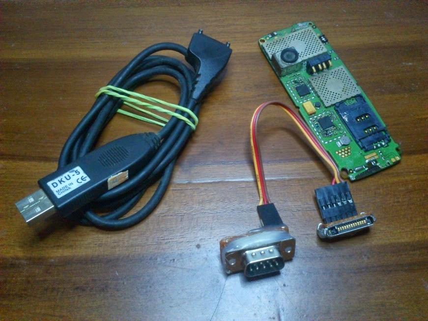 Membuat USB to Serial RS232 dengan Kabel DKU-5 dan Ponsel Bekas