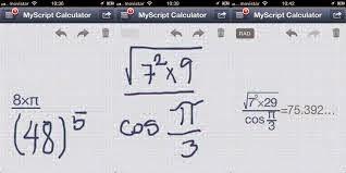 tampilan myscript calculator